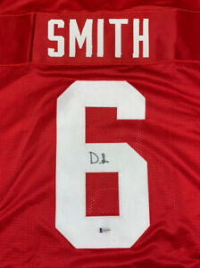 DeVonta Smith signed Crimson Alabama Jersey BAS Beckett Coa Stitched Autographed
