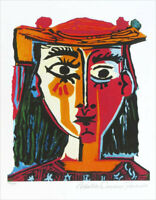Pablo PICASSO Bust Of A Woman Limited Edition Giclee Estate Signed 20x13