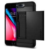 iPhone 8 Plus / 7 Plus Spigen® [Slim Armor CS] Card Slot Shockproof Case Cover