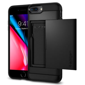 iPhone 8 Plus 7 Plus Spigen®[Slim Armor CS] Card Slot Shockproof Case Cover