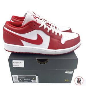 Nike Air Jordan 1 Retro Low Gym Red White 553558-611 Size 10.5