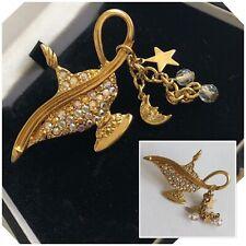 Vintage Jewellery Kirks Folly Aladdin Magic Genie Crystal Lamp Brooch Pin