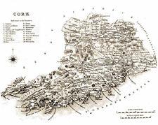 Large map of County Cork, Ireland, C1840.