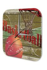 Fun Wall Clock Vintage Decor Marke basketball hoop printed acryl plexiglass