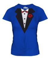 Esmoquin Mujer Camiseta Top Regalo Estilo Camisa