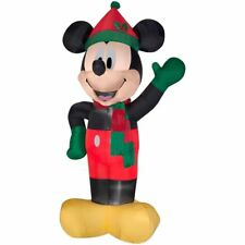 Home Accents 17608 8 ft. Inflatable Lighted Airblown Mickey with Hat and Scarf