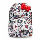 Hello Kitty Backpack Tattoo Print With Face 3D Bow Loungefly Sanrio Licensed NEW