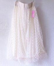 NEW~Ivory Cream Lace Tulle Peasant Ballet Romantic Boho Dress-Skirt~16/14/18/XL
