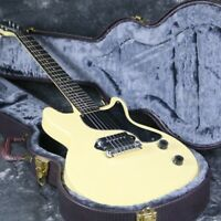 New Junior Electric Guitar Double Cutway P90 Pickups Black Color Cream Color
