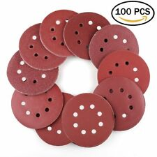 5inch 40-800 Grit Hook and Loop Pads Sanding Disc Orbital Sandpaper Sheet Sander
