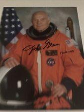 Astronaut John H. Glenn Jr. Signed 8x10 Color Nasa Promo Photo Autographed