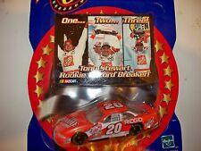 NASCAR TONY STEWART RECORD BREAKER CARD & #20 HOMEDEPOT CAR COLLECTABLE