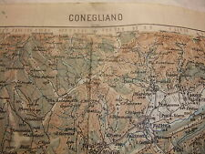 h alt historische Landkarte Karte Generalstabskarte CONEGLIANO Italien 1913 1917