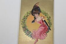 "VINTAGE EARLY 1900'S ""A HAPPY NEW YEAR"" NEW YEAR SERIES  EMBOSSED POSTCARD"