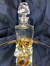 Crystal Glass Decanter Whiskey Cognac Vodka  28oz 850ml Quadro Vintage Carafe