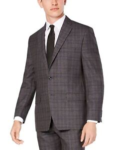 Michael Kors Mens Gray Size 44 Regular Fit Airsoft Stretch Wool $450 #100