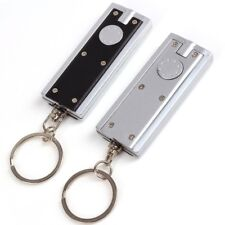 2x Super Bright LED Torches Mini Key Ring Chain Flashlight 100 000 Hour Life