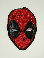 Official Marvel Comics Deadpool Mask Sparkle Iron-On Cloth Jacket Patch New