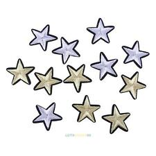 12pcs Set 3D Star Applique Embroidery Patch Sticker Iron On Sew Cloth Patch DIY