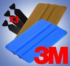 3M Blue Gold Squeegee Applicator Tool Set Felt Edge Decal Tips x3 Vinyl Wrap Kit