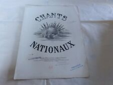 PIANO - Partition CHANT NATIONAL SUEDOIS !!