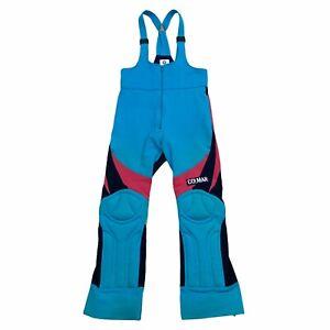 Colmar Sportswear Ski Dungarees | Vintage Designer Snowboard Trousers Blue VTG