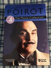 Poirot:The Movie Collection-Set 4-Acorn Media-Masterpiece Mystery-Free Shipping!