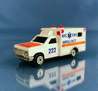 Vintage NYC Ambulance Truck, Majorette Sonic Flashers scale Diecast Model #B29
