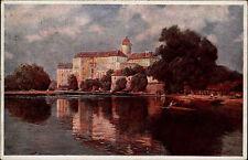Lázně Poděbrady Tschechien AK 1912 Zámek od labe Schloss Elbe Künstlerkarte