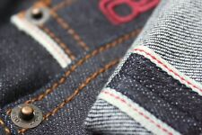Mens Raw Japanese Selvedge Denim | Slim Fit | 12oz Dry Jeans | Indigo | L34