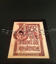 Book of Kells - Old Irish Meath Celtic Art Design - Trinity College Poster Print