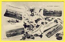 cpa MAILLY le CAMP (Aube) Fleurs PARC d'AVIATION Mécaniciens Hangars Aviateur
