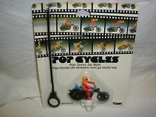 POP CYCLES N°2  CHOPPER SPINNING TOY TOMY 1981 MINT ON CARD