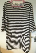 Per una Weekend Ladies Striped Long 3/4 Length Sleeve Top Size 14