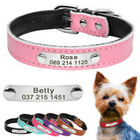 Personalized Dog Collars PU Leather Custom Dog Name Free Engraved Dog ID Collar