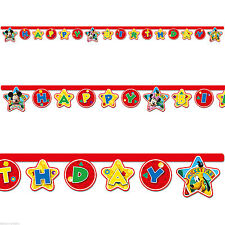 Mickey Mouse Birthday, Child Party Banners, Buntings & Garlands
