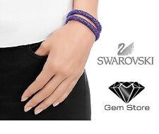 Swarovski Stardust Double Bracelet in Tanzanite Purple (m) 40cm