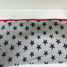 Just One You by Carter's Stars Print Baby Blanket Gray Red Edge Trim Thin Lovey