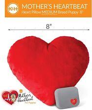"""K&H Pet Mother's Heartbeat Plush Dog Heart Pillow Medium Red 8"""" x 6"""""""