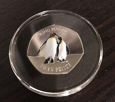 Falkland Islands King Penguin 50p Fifty Pence 2017 Coin BUNC