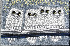 """Owls at Night outdoor Hooked Mat Home Decor Rug 20""""x 30"""""""