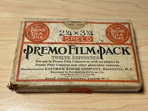 Premo Film Pack (expired 1919) and Kodak Tri-X Film Pack (expired 1970)