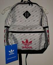 "Adidas Base Backpack White Monogram Power Pink 20"""