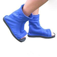Naruto Cosplay Shoes Konoha black blue cosplay Ninja boots Kakashi Shoes 1 pair