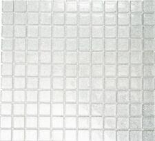 Mosaïque translucide crystal argent martelé cuisine toilet 70-0207_f |10 plaques