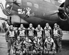USAAF WW2 B-17 Bomber Wee Willie Crew #1 8x10 Nose Art Photo 91st BG WWII