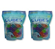 Pack of 112 Reusable Plastic Ice Cubes BPA FREE Resealable Bag For Easy Storage