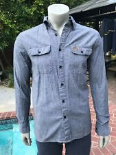 Elwood long sleeve button up rugged casual shirt- Men's M
