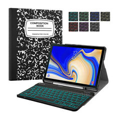 For Samsung Galaxy Tab S4 10.5 inch Tablet Backlit Bluetooth Keyboard Case Cover
