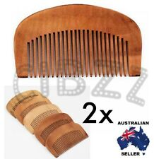 2x Wood Fine Tooth Anti Static Mini Hair Combs Healthy Care Brush Travel Tool